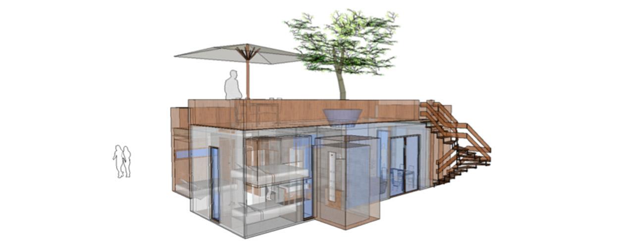 Kabeen habitat modulaire léger de loisir